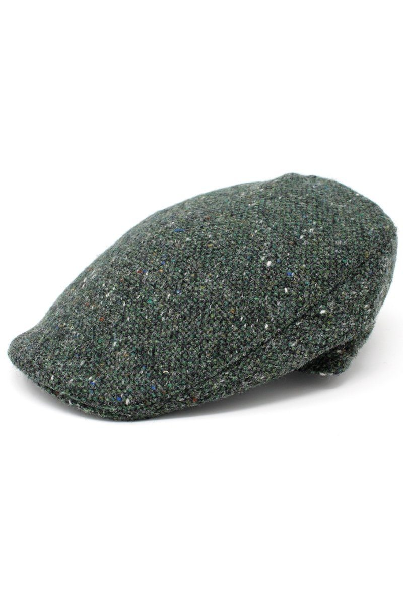 Hanna Hats Donegal Touring Tweed Cap - Green - Lee Valley Ireland - 1
