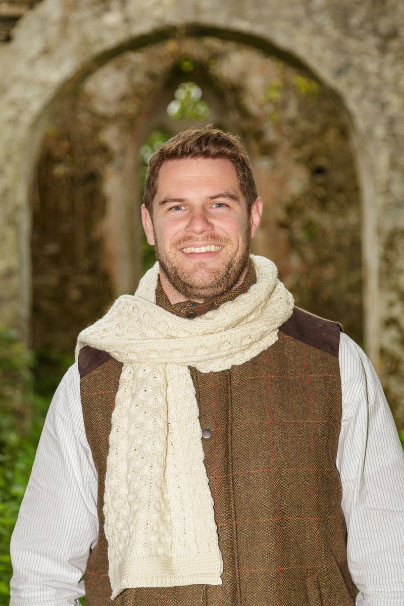 Cobh Wool Scarf - Natural - Lee Valley Ireland - 1