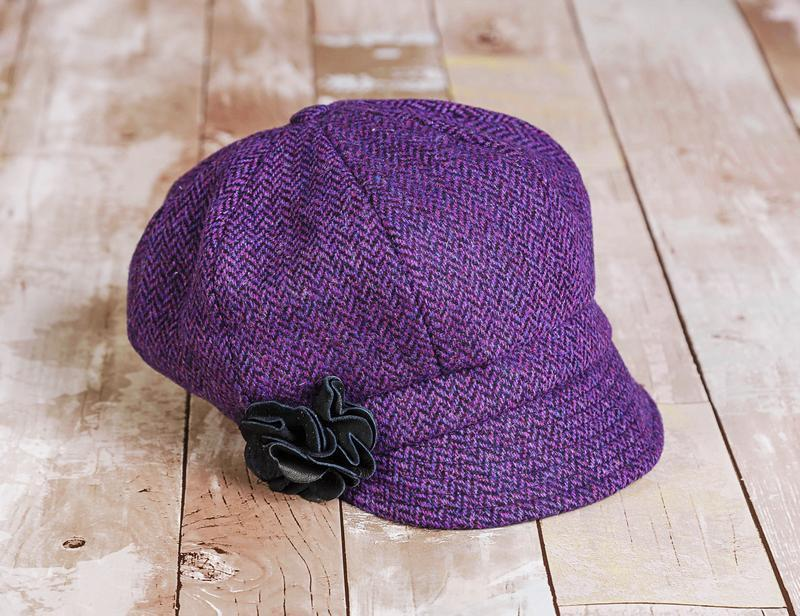 Irish Newsboy Hat - Mulberry - Lee Valley Ireland - 2