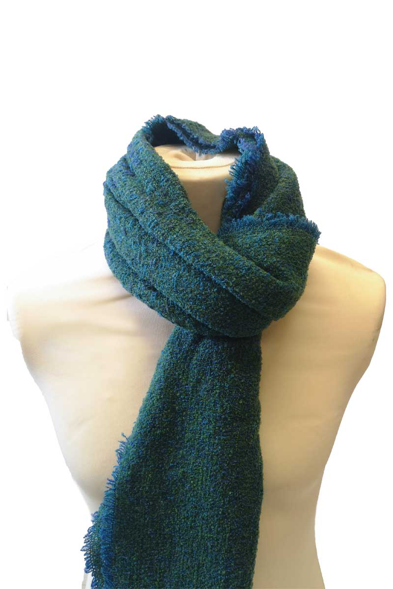 Celtic Wool Stole - Kelly Marine