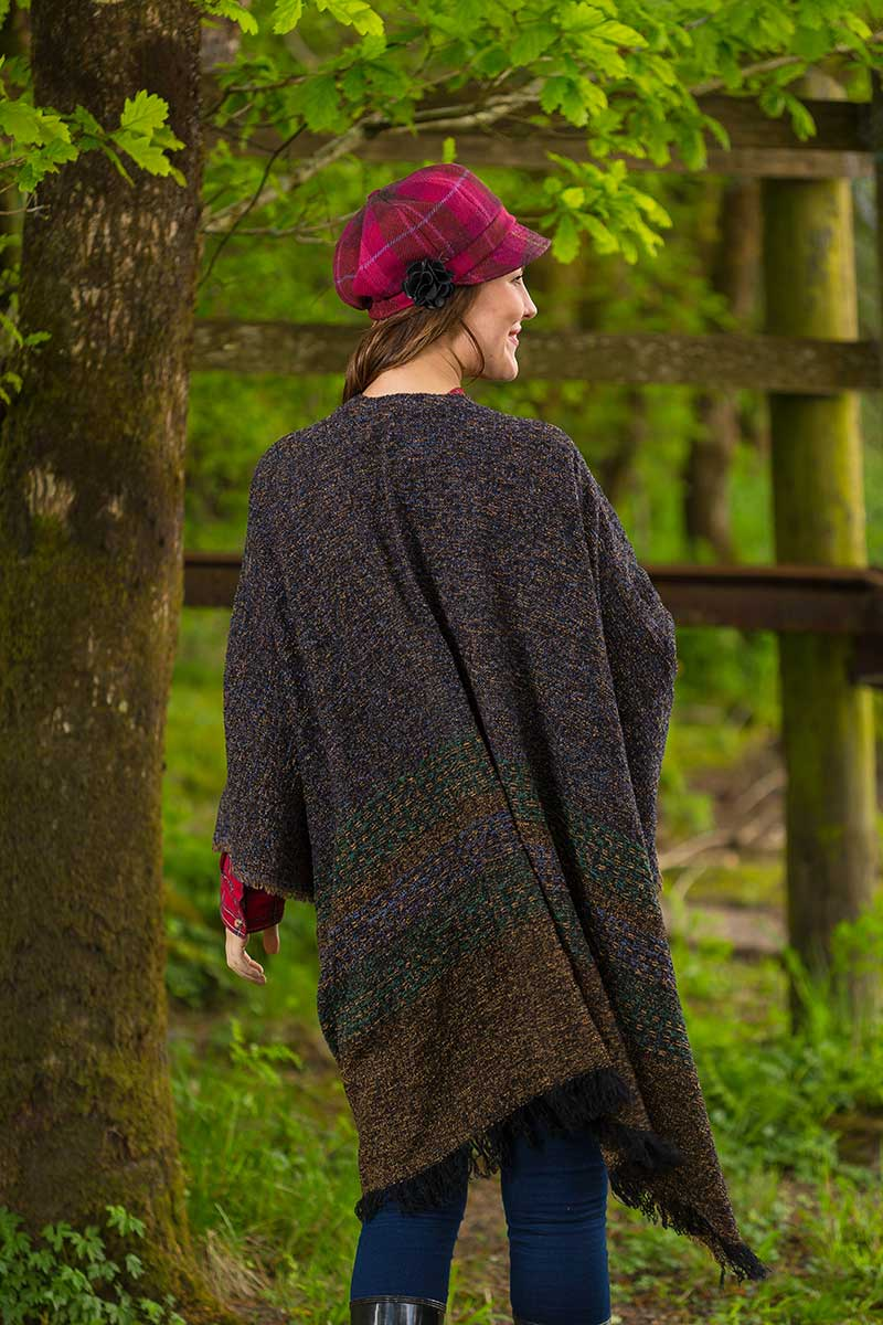 Celtic Wool Shawl - Turf Brown - Lee Valley Ireland - 2
