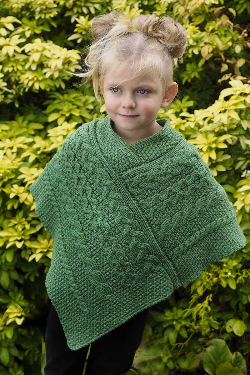 Kids Cape Emerald Green - SH4563 Knitwear Westend