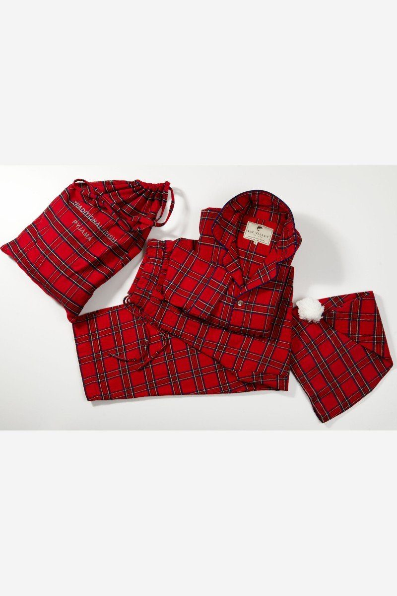 Nightwear Gift Set - Red Tartan Royal Stewart LV27 - Lee Valley Ireland - 1