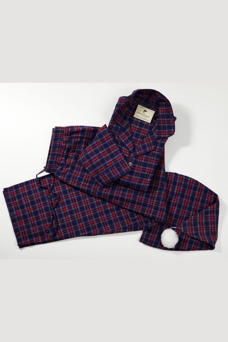 Nightwear Gift Set - Purple/Navy Tartan LV28 - Lee Valley Ireland - 1