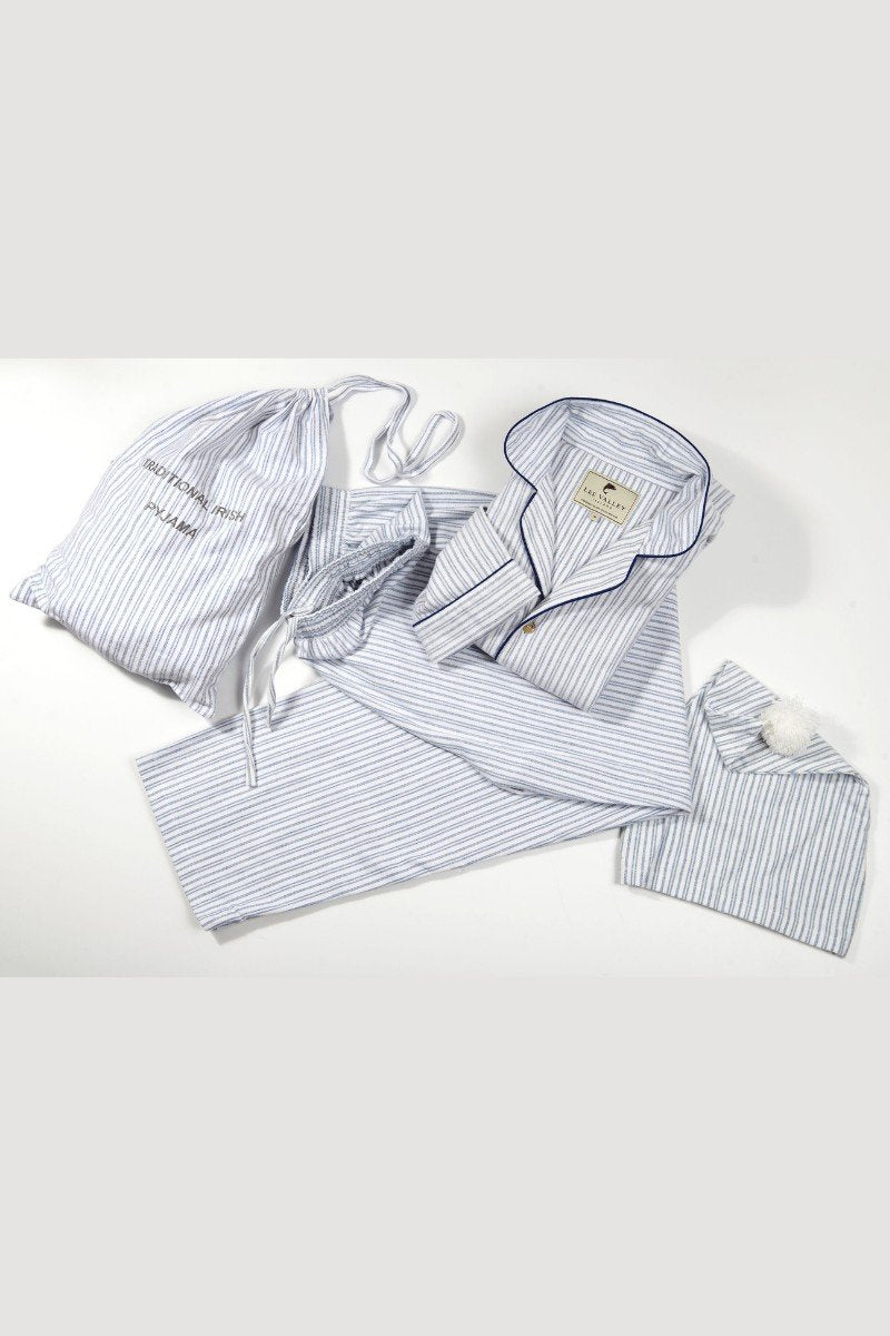 Nightwear Gift Set - Blue Ivory Stripe LV2 - Lee Valley Ireland - 1