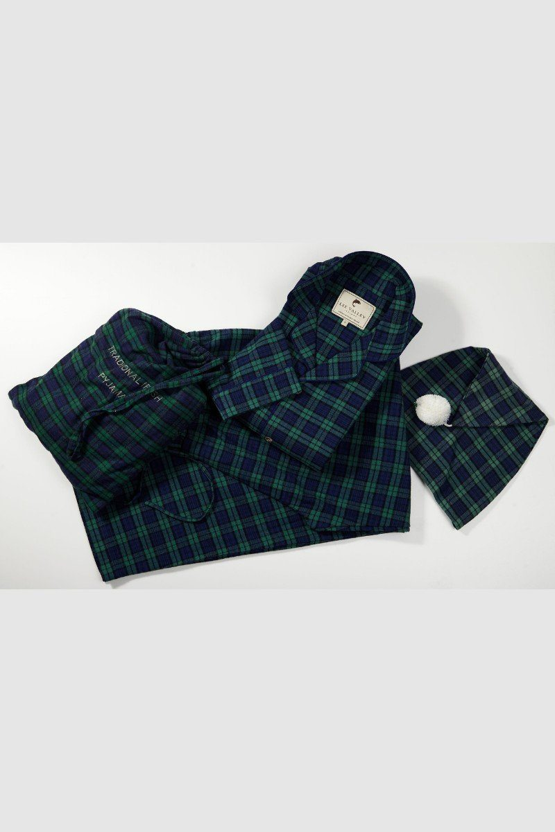 Nightwear Gift Set - Green Tartan Blackwatch LV6 - Lee Valley Ireland - 1