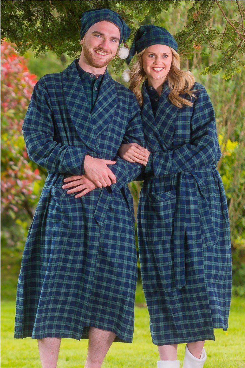 Nightrobe Pyjama Nightcap Gift Set - Green Tartan Blackwatch LV6 - Lee Valley Ireland - 1