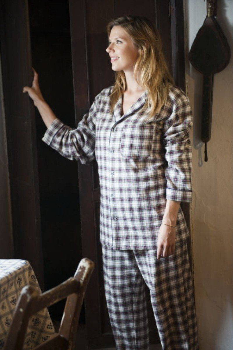 Nightwear Gift Set - Maroon Check LV7 - Lee Valley Ireland - 3