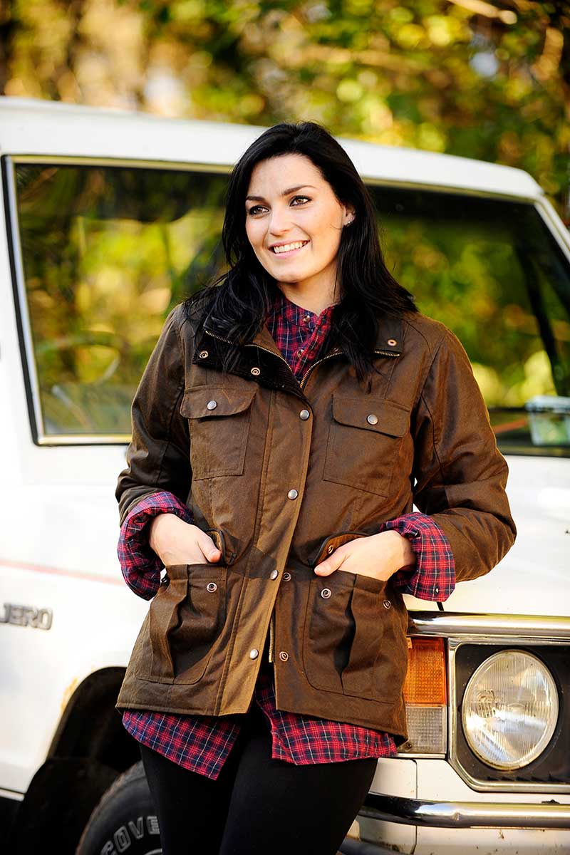Lisroe Ladies Dry Wax Jacket- Brown