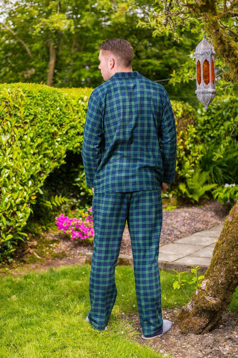 Pyjamas Lee Valley Flannel Mens - LV6 Green Tartan- Blackwatch - Lee Valley Ireland - 2