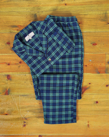 Pyjamas Lee Valley Flannel - LV6 Green Tartan- Blackwatch - Lee Valley Ireland - 1