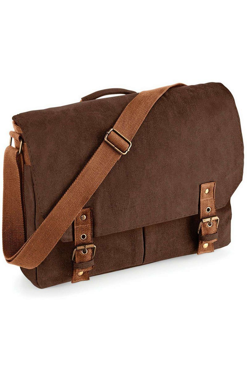 Vintage Canvas Satchel Bag - Brown (QD625) Ral Ralawise