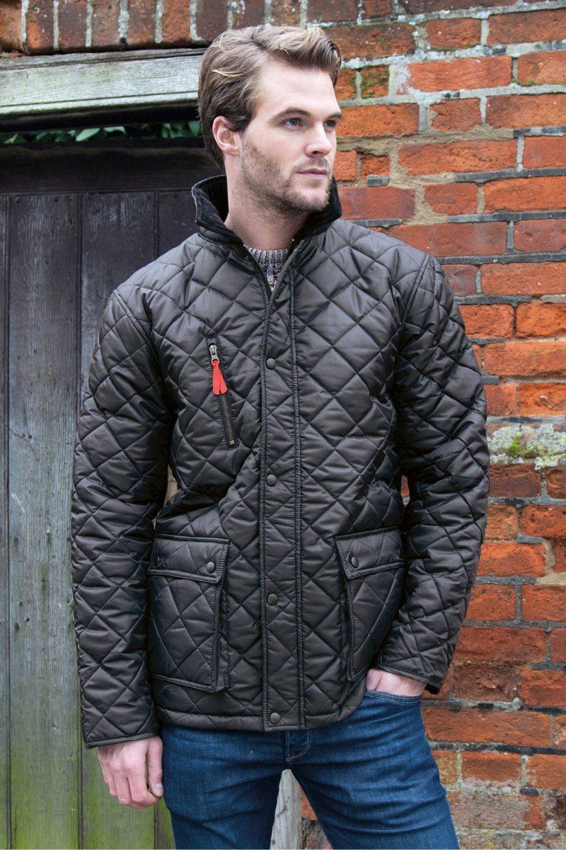 Curragh Quilt Jacket - Black (R196X) - Lee Valley Ireland - 1