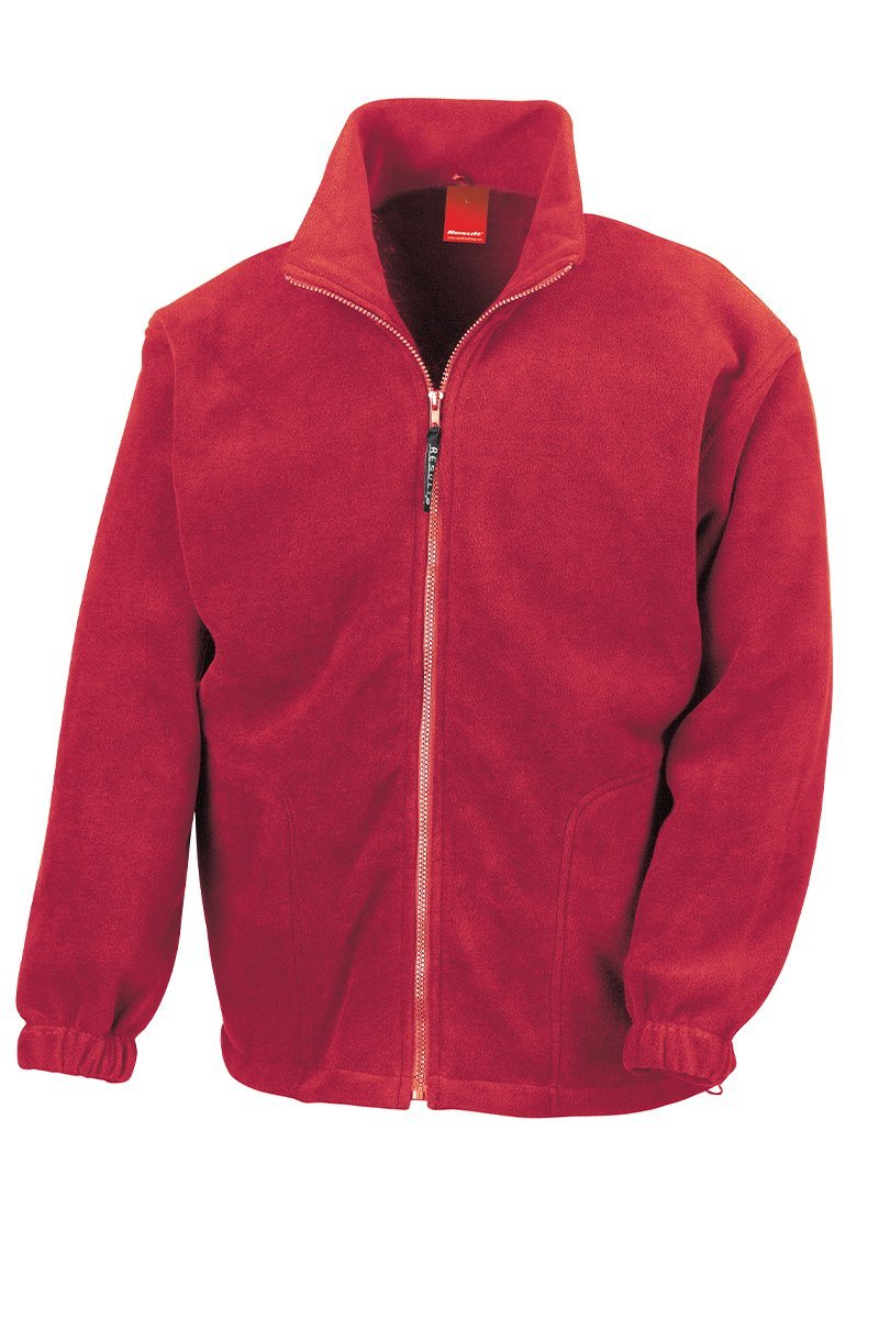 Polar Fleece Womens Jacket (RE36A) Jackets Ralawise XS Red