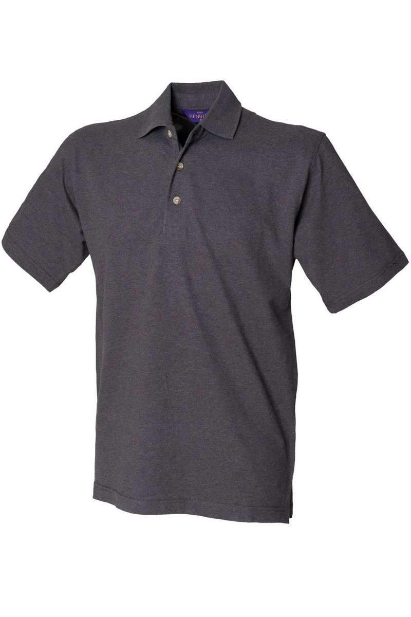 Classic Cotton Polo Shirt HB100 - Charcoal - Lee Valley Ireland - 1