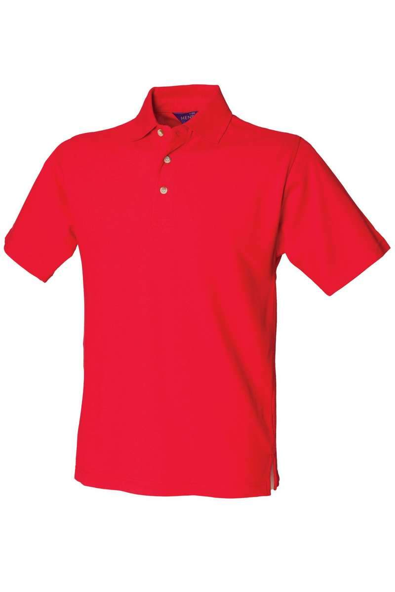 Classic Cotton Polo Shirt HB100 - Red - Lee Valley Ireland - 1