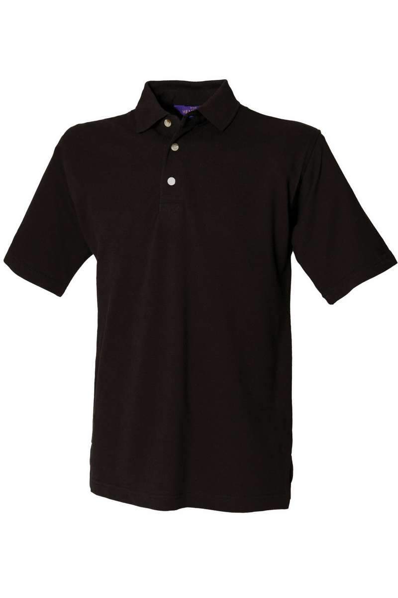 Classic Cotton Polo Shirt HB100 - Black - Lee Valley Ireland - 1