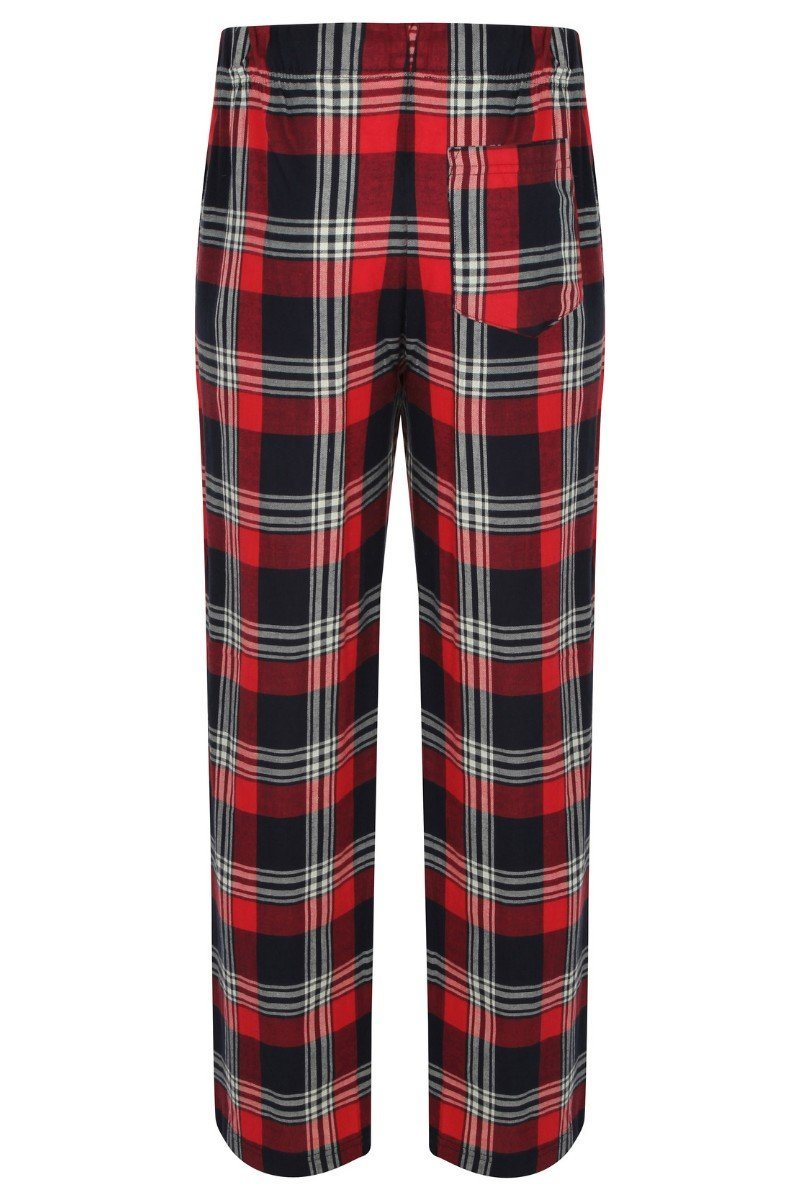 Lightweight Lounge Pants - Red Navy Check - SFM83 - Lee Valley Ireland - 2