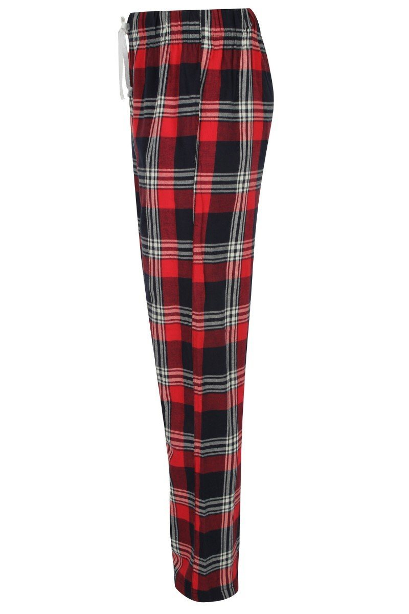 Lightweight Lounge Pants - Red Navy Check - SFM83 - Lee Valley Ireland - 3
