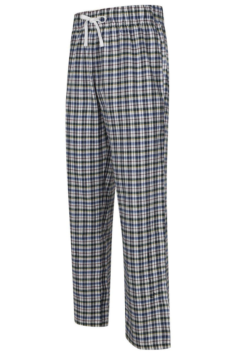 Lightweight Lounge Pants - White Multi Check - SFM83 - Lee Valley Ireland - 1
