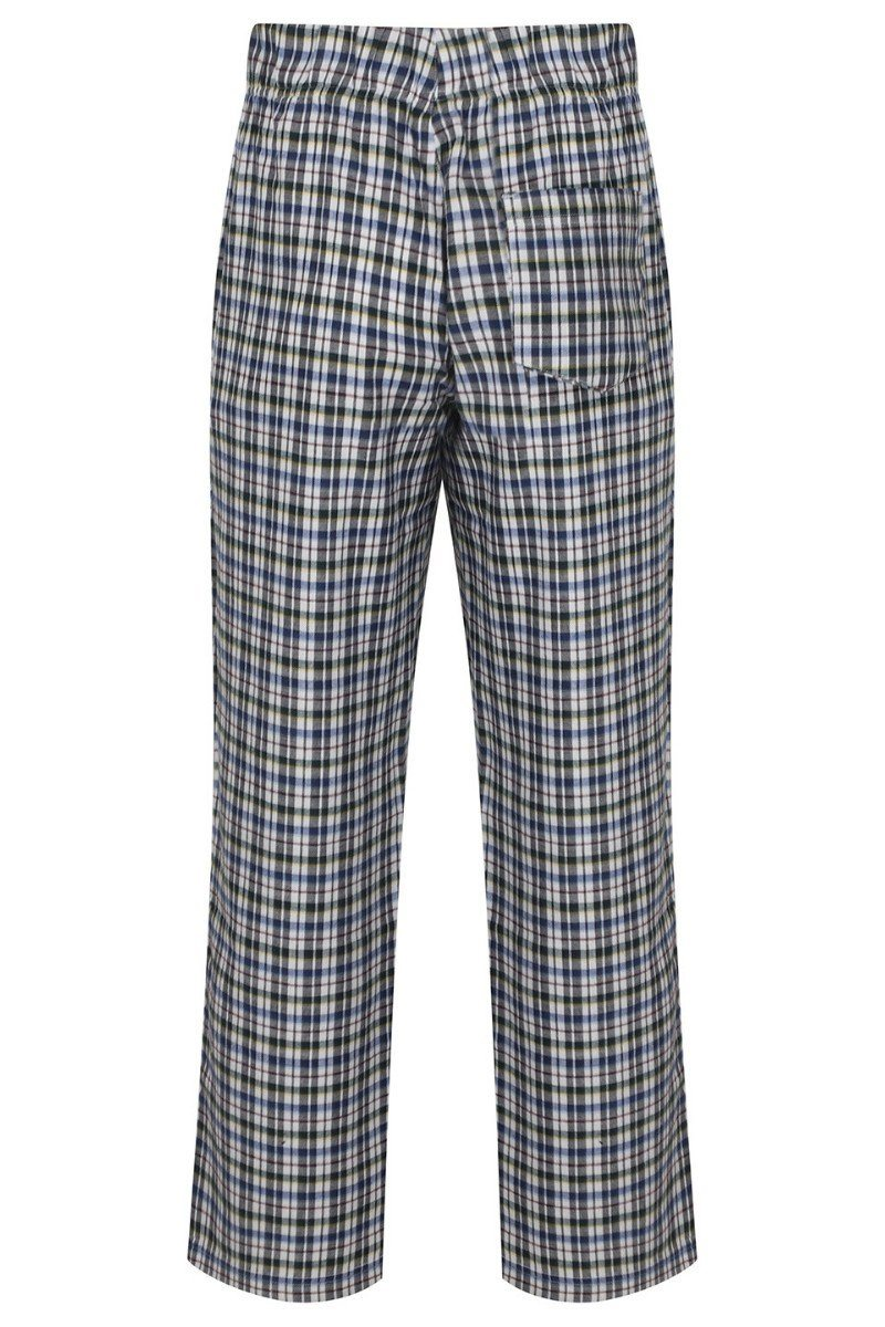 Lightweight Lounge Pants - White Multi Check - SFM83 - Lee Valley Ireland - 2