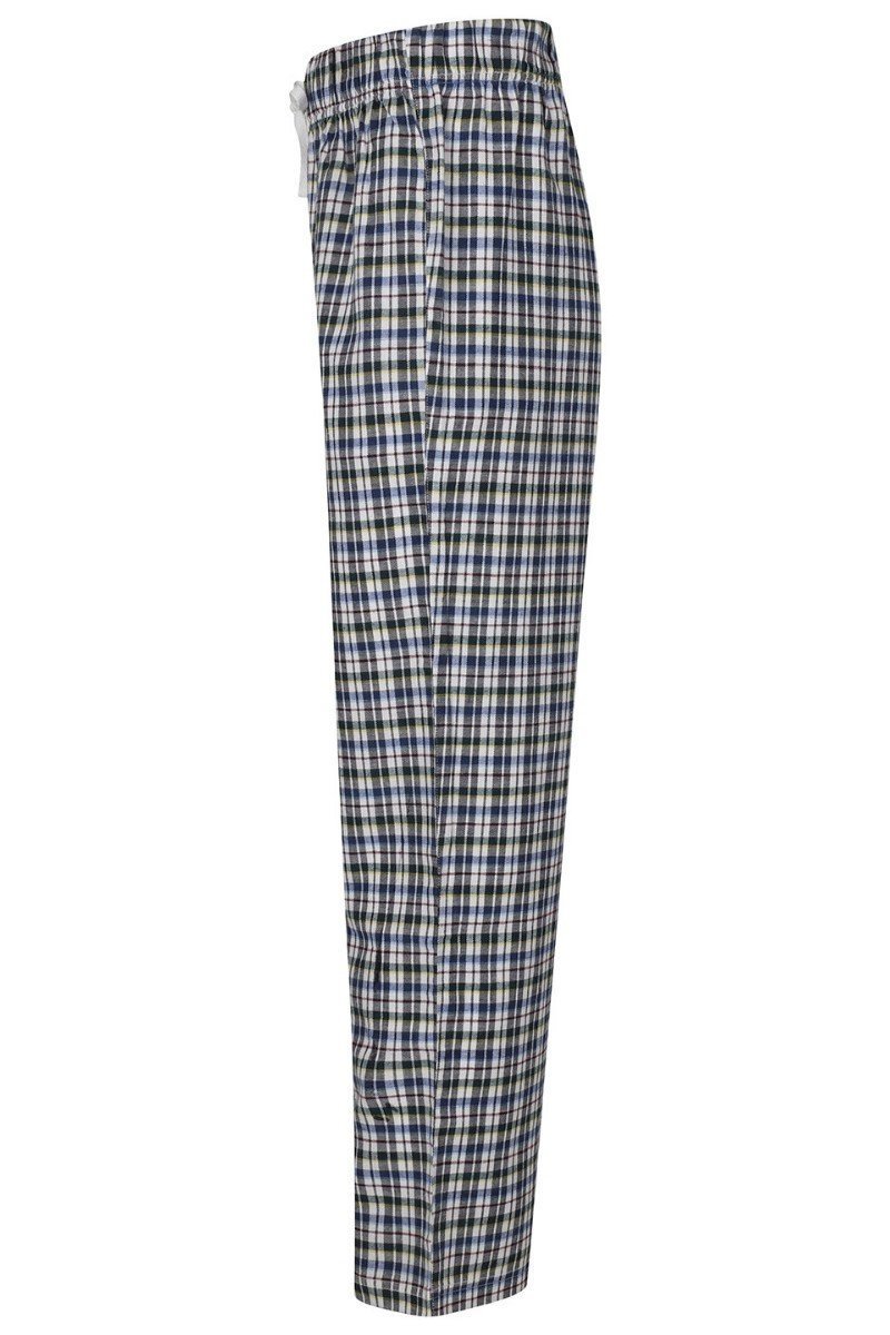 Lightweight Lounge Pants - White Multi Check - SFM83 - Lee Valley Ireland - 3