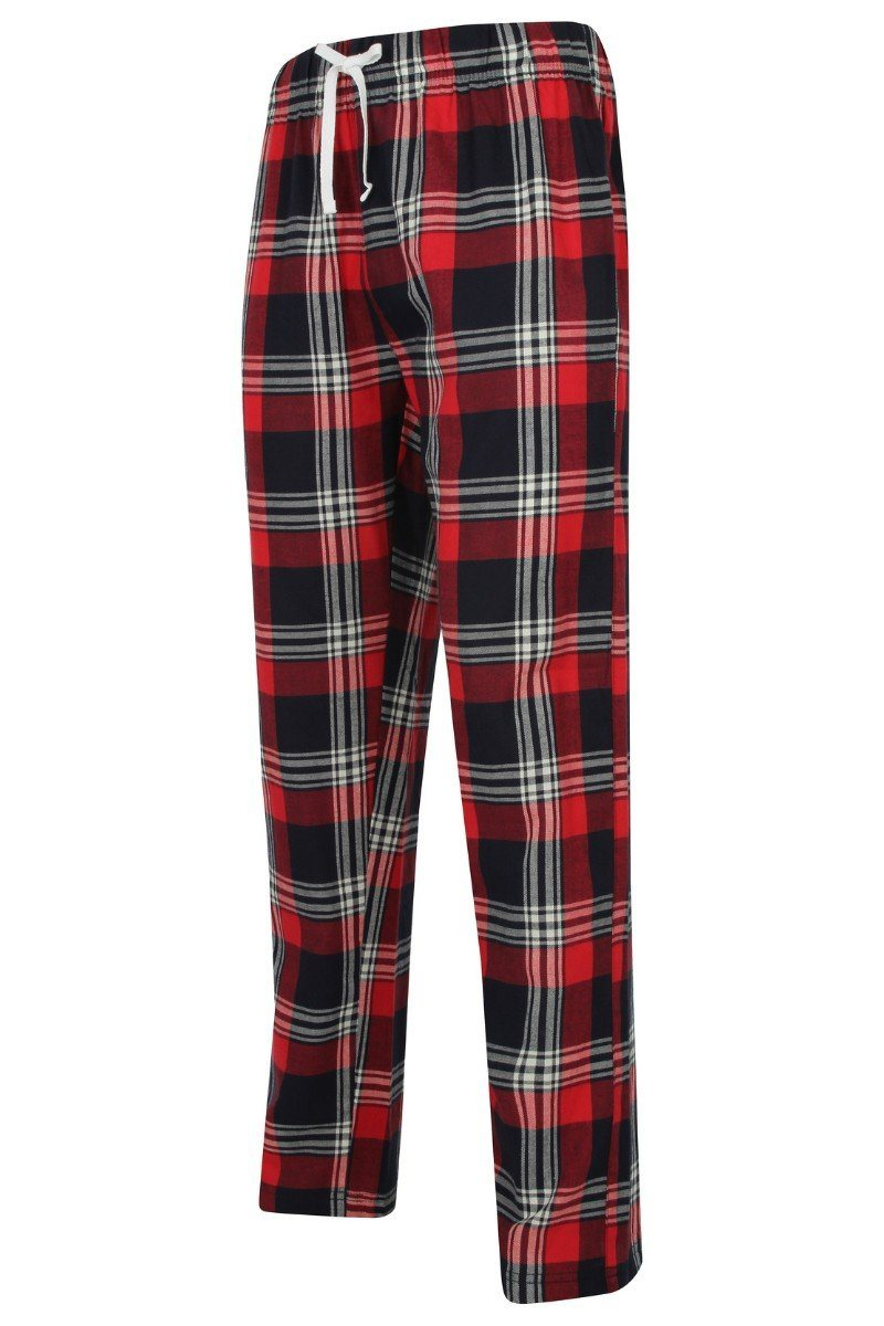 Lightweight Lounge Pants - Red Navy Check - SFM83 - Lee Valley Ireland - 1