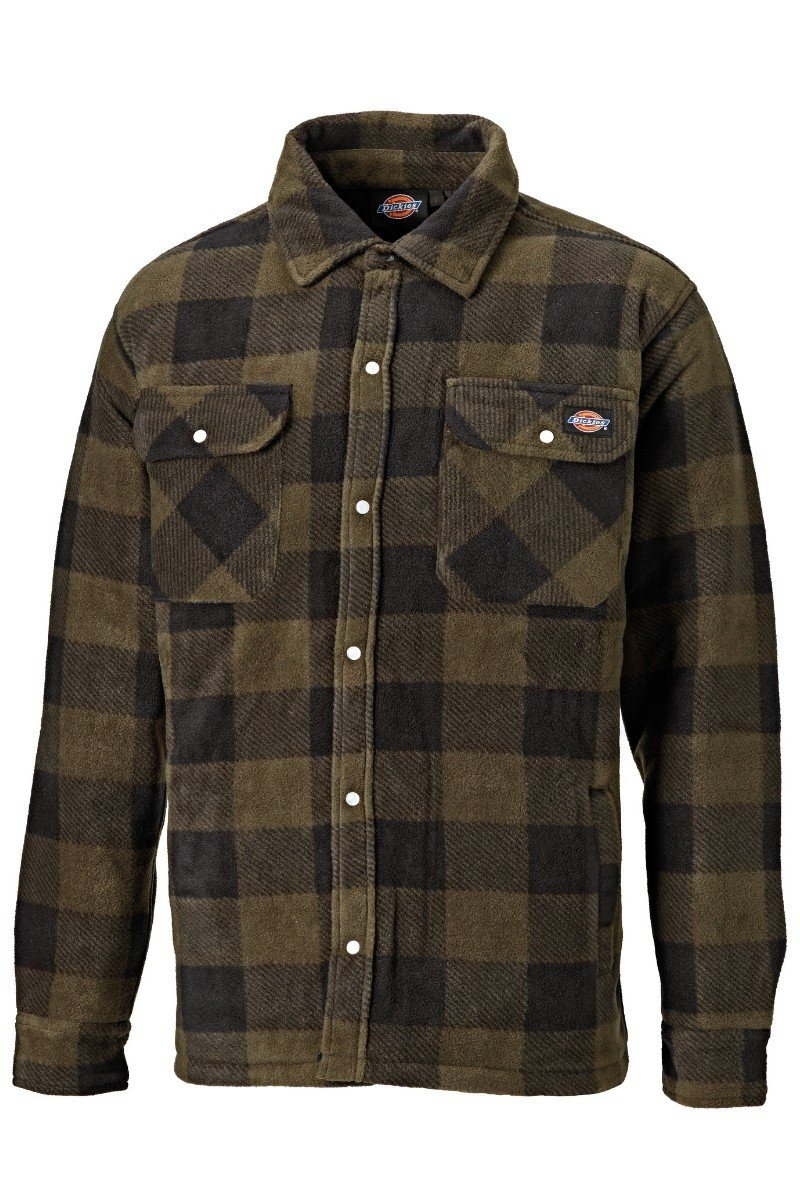 Quilted Fleece Shirt - Khaki Check (WD151) - SH5000 - Lee Valley Ireland - 1