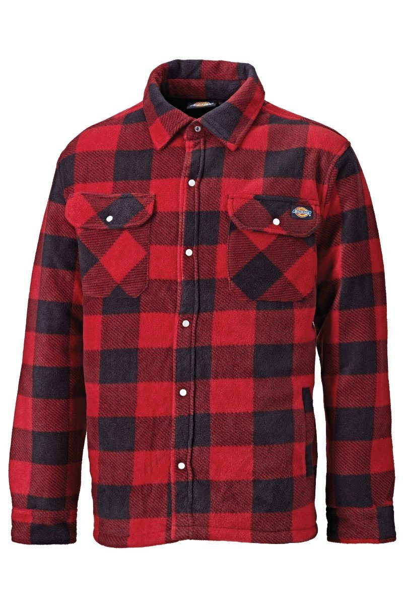 Quilted Fleece Shirt - Red Check (WD151) - SH5000 - Lee Valley Ireland - 2