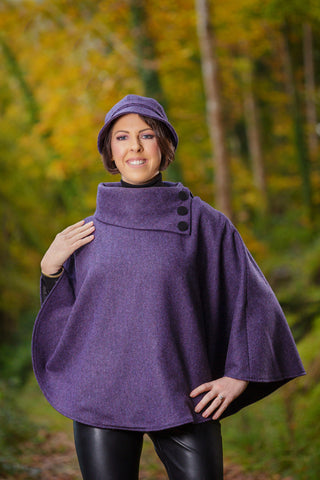 Irish Poncho Cape - Mulberry - Lee Valley Ireland - 1
