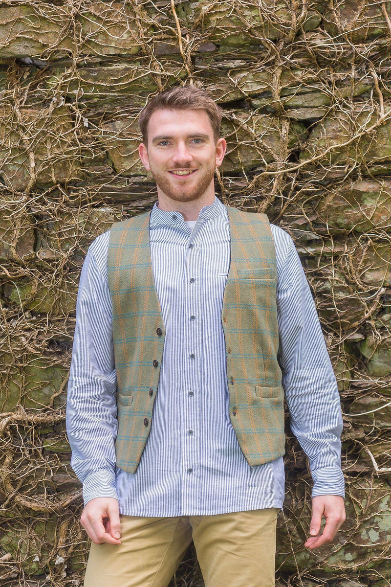 Irish Wool Tweed Vest - Durrow Hurley Tweed - Lee Valley Ireland - 1