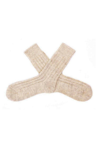 Irish Organic Wool Socks - Natural - Lee Valley Ireland - 3