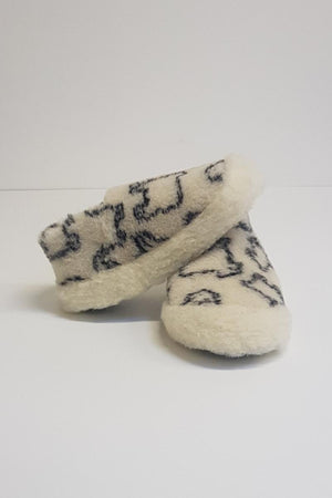 Irish Wool Slippers - Sheep Pattern - Lee Valley Ireland - 1
