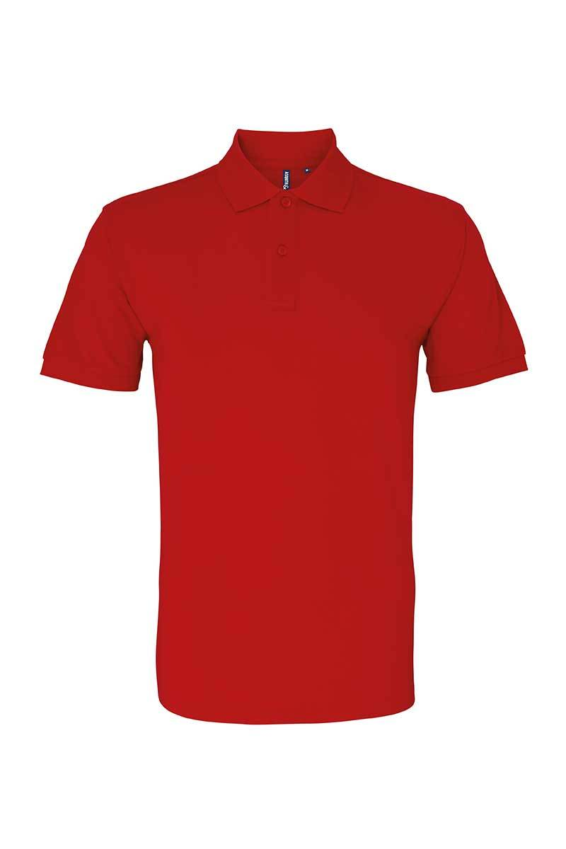 Organic Mens Polo Shirt (AQ082) T Shirt Ralawise S Red