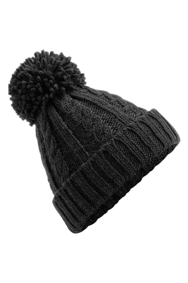 Cable Knit Beanie Hat (BC480) Ral Ralawise One Size Black