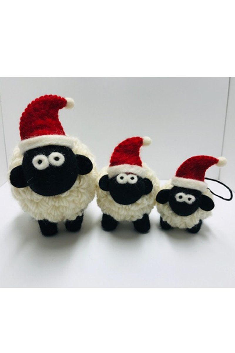 Erin Irish Christmas Sheep - White