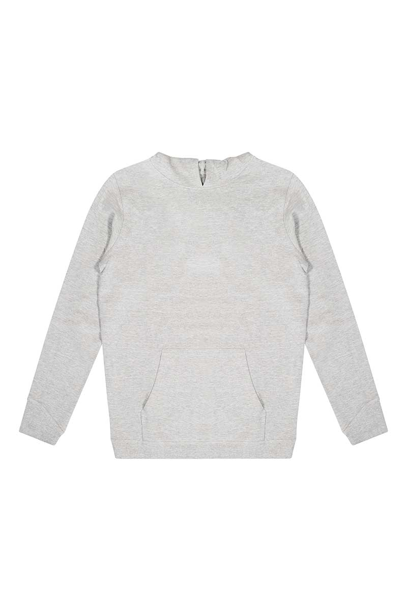 Organic hooded sweatshirt grey 3