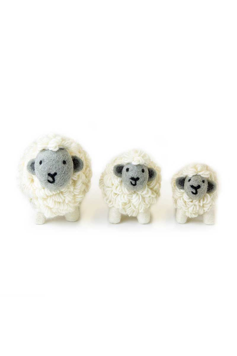 Erin Irish Sheep - Grey Irish Gift Erin Knitwear Small