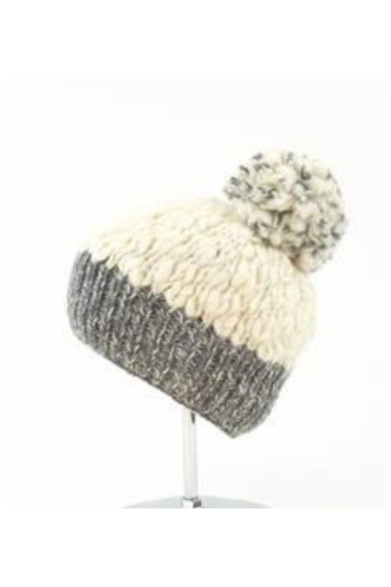 Erin Irish Wool Bobble Hat - Grey - Lee Valley Ireland - 2