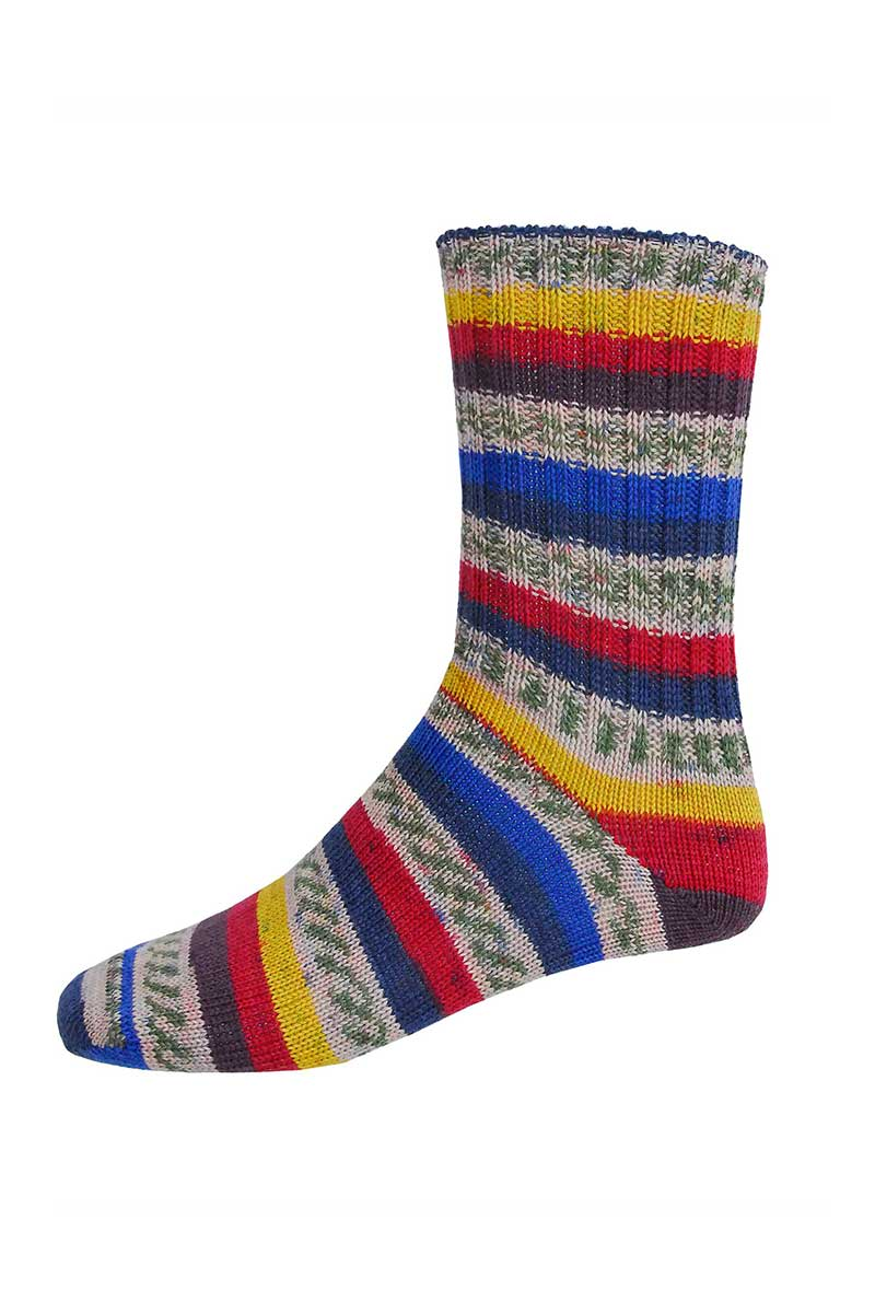 Mens Irish Fair Isle Socks - Regular Socks Grange Craft Medium Blue