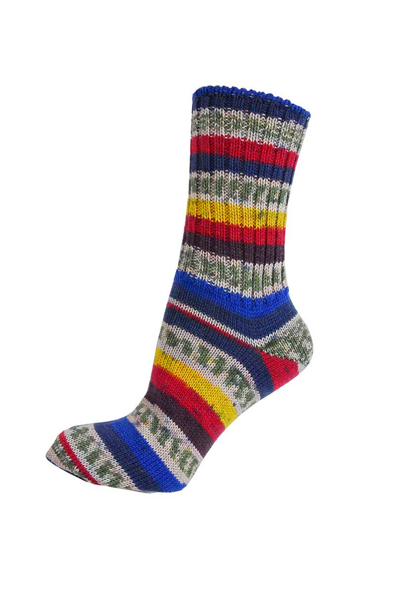 Ladies Irish Fair Isle Socks - Regular Socks Grange Craft Medium Blue