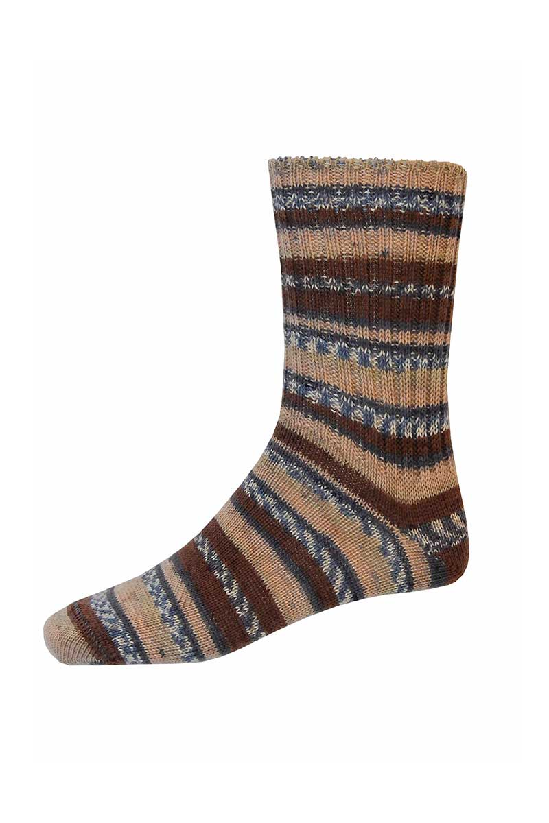 Mens Irish Fair Isle Socks - Regular Socks Grange Craft Medium Brown