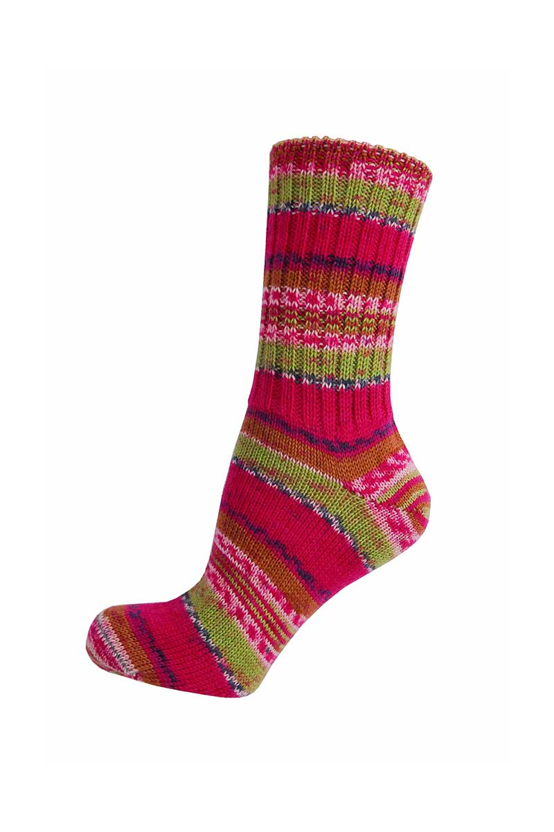 Ladies Irish Fair Isle Socks - Regular Socks Grange Craft Medium Fuschia