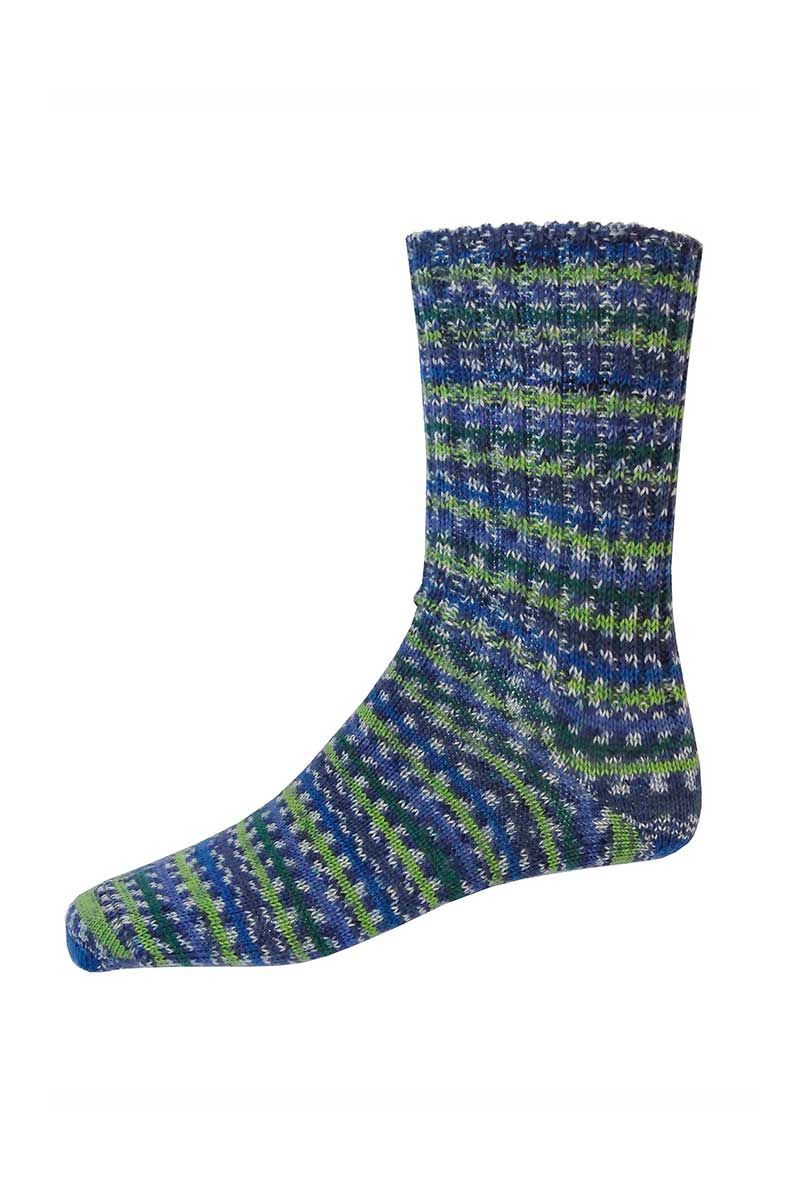 Mens Irish Fair Isle Socks - Regular Socks Grange Craft Medium Green