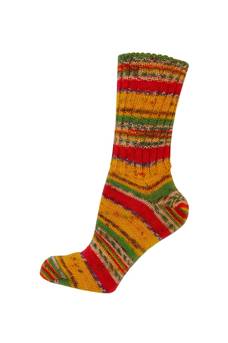 Ladies Irish Fair Isle Socks - Regular Socks Grange Craft Medium Mustard