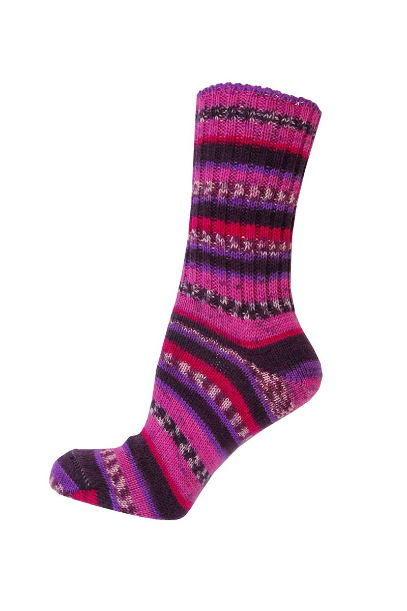 Ladies Irish Fair Isle Socks - Regular Socks Grange Craft Medium Purple
