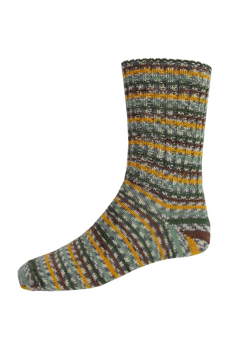 Mens Irish Fair Isle Socks - Regular Socks Grange Craft Medium Yellow
