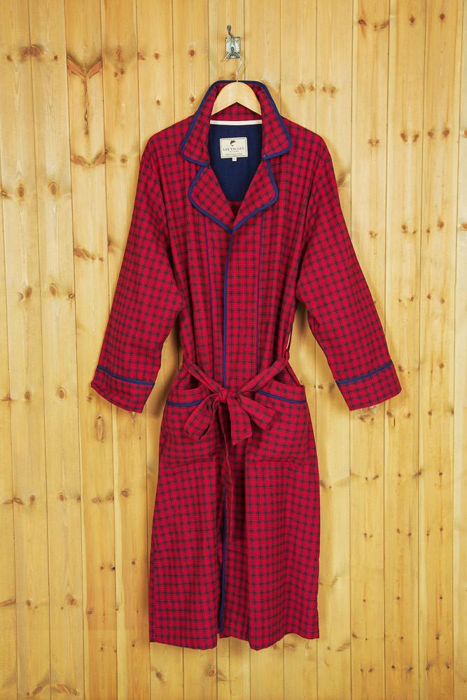 Nightrobe Irish Country Flannel Ladies - SF2 Red Check - Lee Valley Ireland - 2
