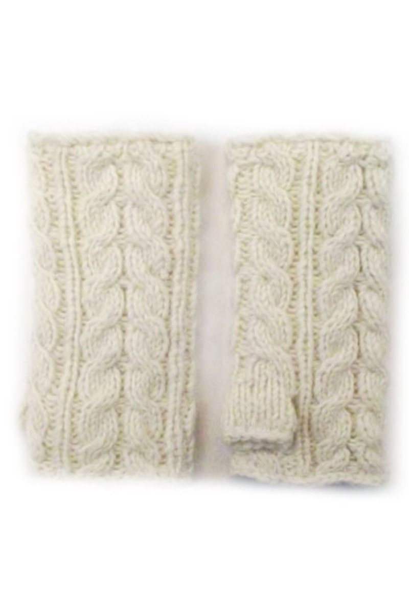 Erin Irish Wool Handwarmer Lee Valley Ireland White One Size