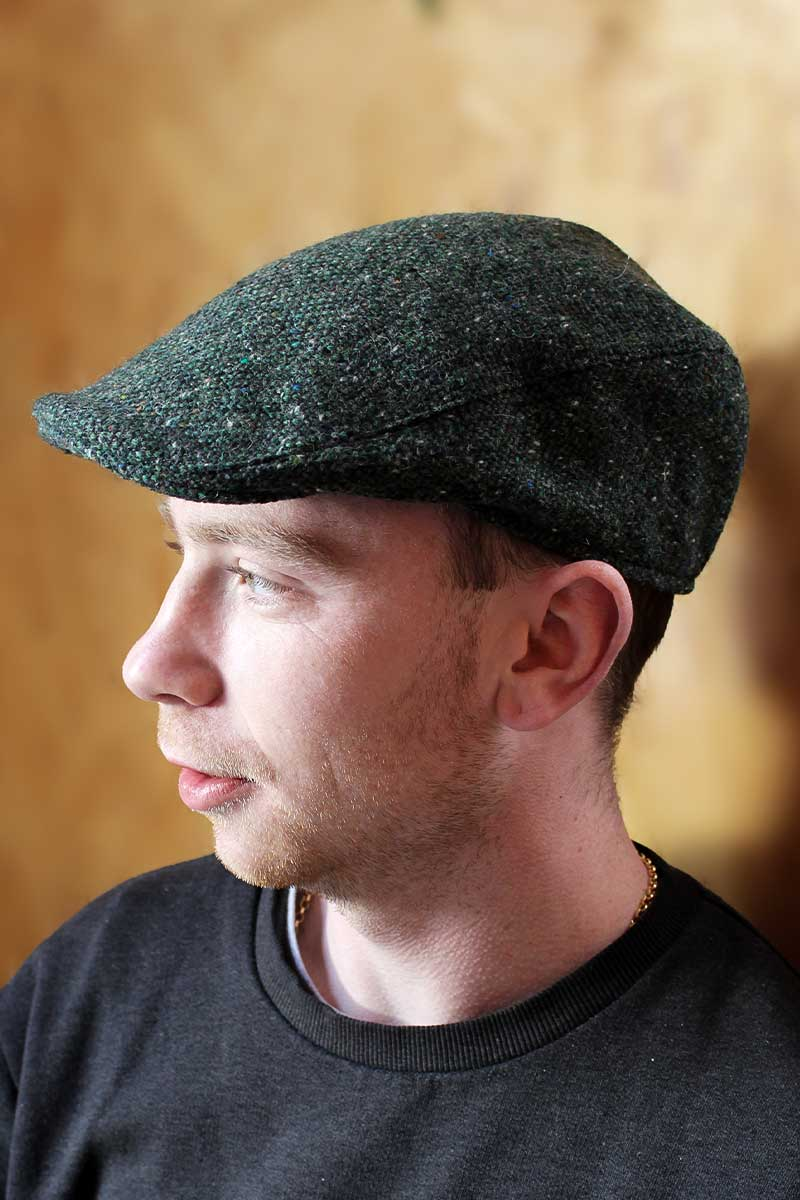 Hanna Hats Donegal Touring Tweed Cap - Green Cap Hanna Hats